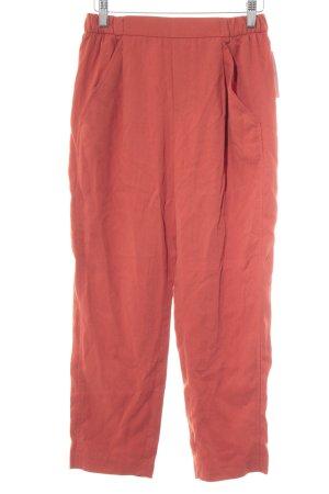 Zara Woman Bundfaltenhose ziegelrot Casual-Look