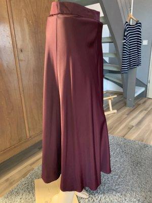 Zara Woman Jupe en taffetas bordeau