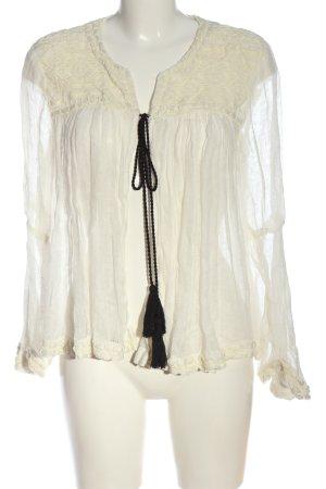 Zara Woman Vareuse blanc cassé style décontracté