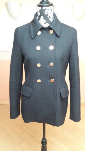 Zara Woman Marynarska kurtka czarny-złoto