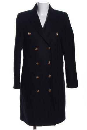 Zara Woman Heavy Pea Coat black business style