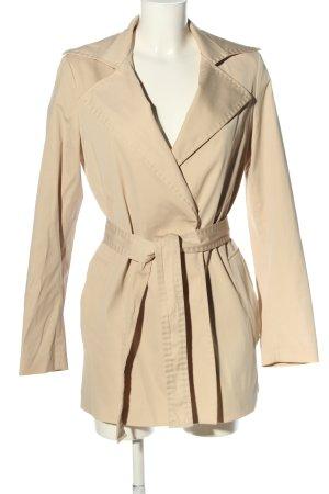 Zara Woman Heavy Pea Coat cream casual look