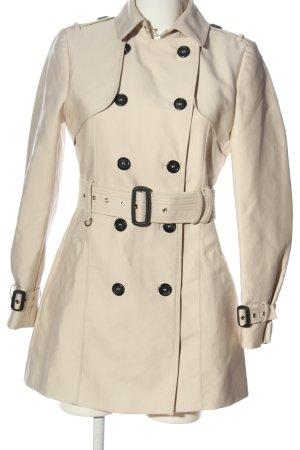 Zara Woman Abrigo de piloto blanco puro look casual