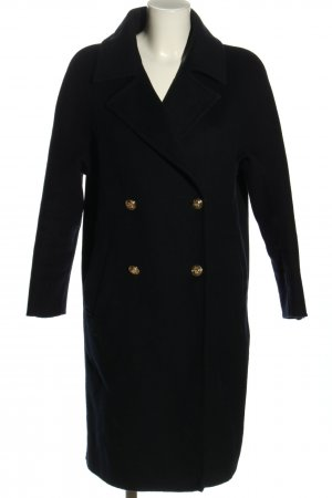 Zara Woman Abrigo de piloto negro look casual