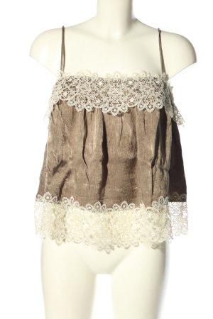 Zara Woman Camisola marrón-blanco puro moteado look casual