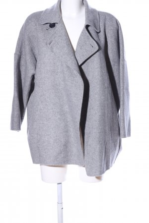 Zara Woman Capa gris claro moteado look casual