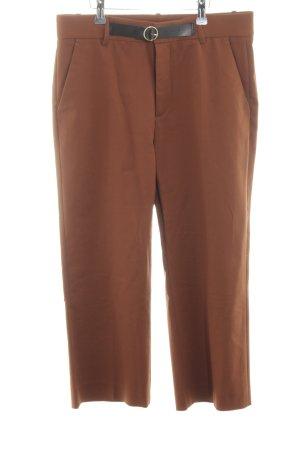 Zara Woman Caprihose bronzefarben-schwarz Casual-Look