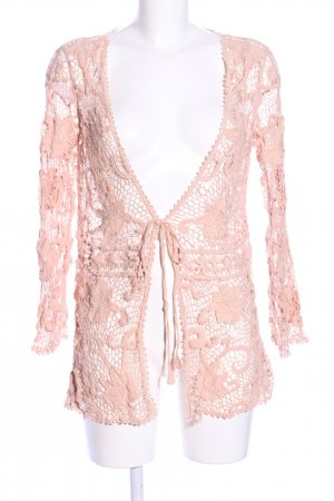Zara Woman Cardigan creme Blumenmuster Business-Look