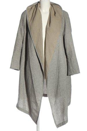 Zara Woman Cardigan hellgrau-wollweiß meliert Casual-Look