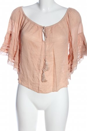 Zara Woman Blouse Carmen rose chair style décontracté