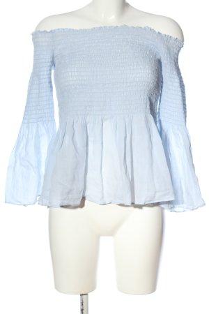 Zara Woman Carmen-Bluse blau Casual-Look