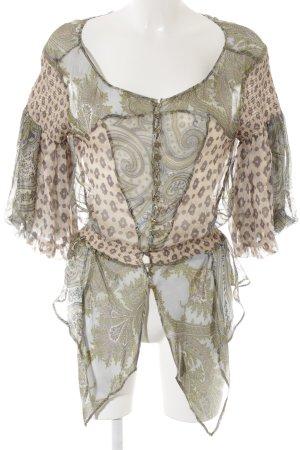 Zara Woman Carmen-Bluse abstraktes Muster extravaganter Stil