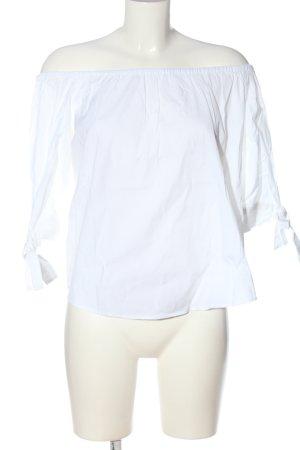 Zara Woman Blouse Carmen blanc style décontracté
