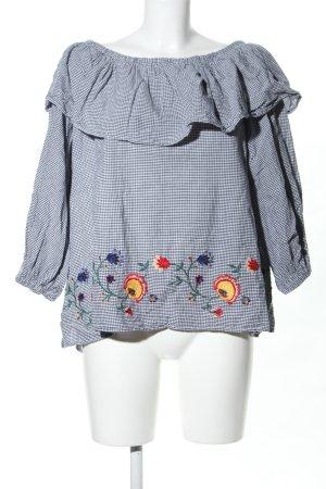 Zara Woman Carmen-Bluse Blumenmuster Casual-Look