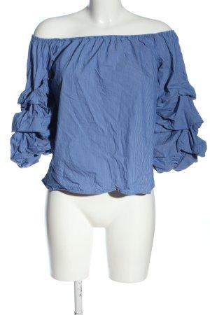 Zara Woman Blouse Carmen bleu style décontracté