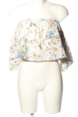 Zara Woman Blouse Carmen motif de fleur style décontracté