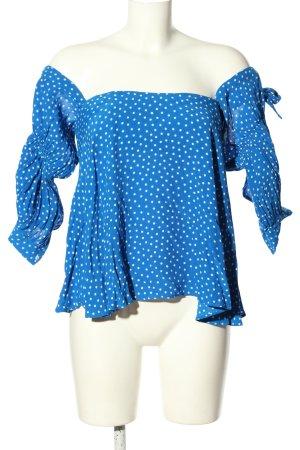 Zara Woman Blouse Carmen motif de tache style décontracté