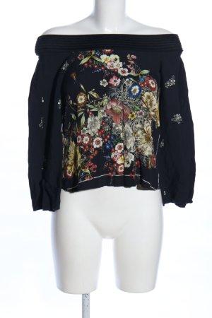 Zara Woman Carmenshirt Blumenmuster Casual-Look