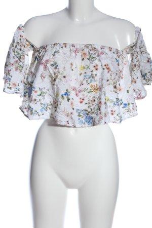 Zara Woman Koszula typu carmen Na całej powierzchni W stylu casual