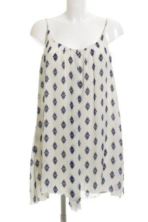 Zara Woman Vestido de chifón estampado con diseño abstracto