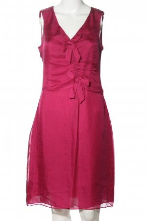 Zara Woman Chiffonkleid rot Casual-Look