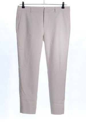Zara Woman Chinosy w kolorze białej wełny W stylu biznesowym