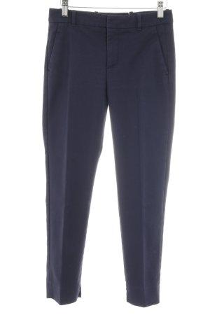 Zara Woman Chinohose dunkelblau Business-Look