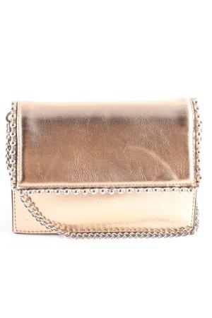 Zara Woman Clutch goldfarben-creme Elegant