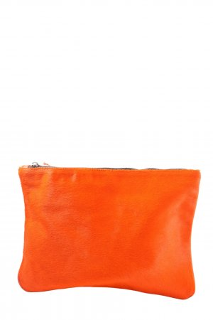 Zara Woman Clutch neonorange-dunkelorange Casual-Look
