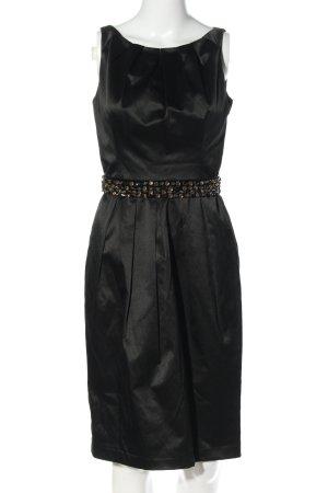 Zara Woman Cocktailkleid schwarz Glanz-Optik