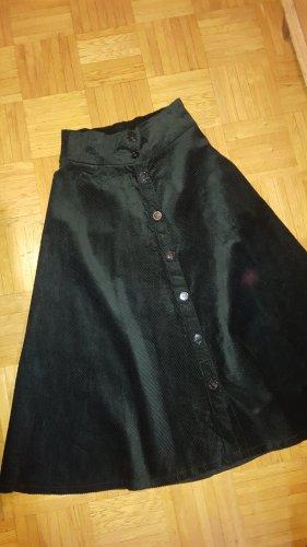 Zara Woman Cord Rock dunkelgrün Gr.S