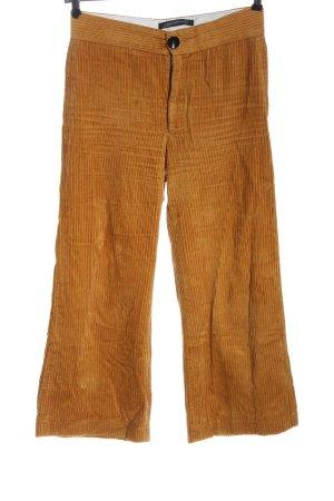 Zara Woman Corduroy broek licht Oranje casual uitstraling