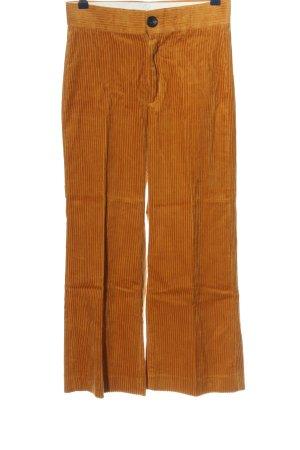 Zara Woman Cordhose hellorange Casual-Look
