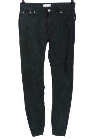 Zara Woman Pantalon en velours côtelé noir style décontracté