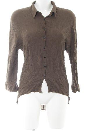 Zara Woman Crash-Bluse braun Business-Look