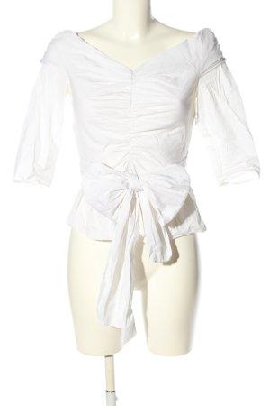 Zara Woman Crash Blouse white elegant
