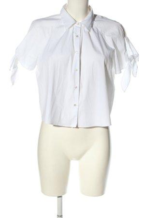 Zara Woman Cropped Top weiß Casual-Look