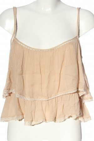 Zara Woman Cropped Top nude Casual-Look