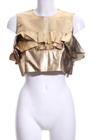 Zara Woman Cropped Top goldfarben extravaganter Stil