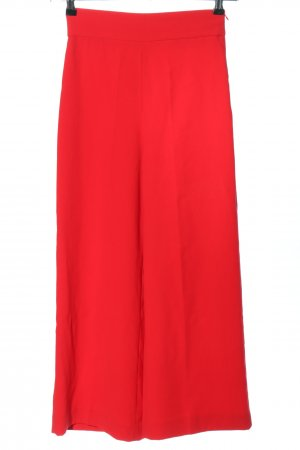 Zara Woman Falda pantalón de pernera ancha rojo look casual