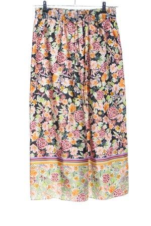Zara Woman Culottes Blumenmuster Casual-Look