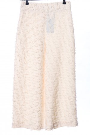Zara Woman Culottes creme abstraktes Muster Casual-Look