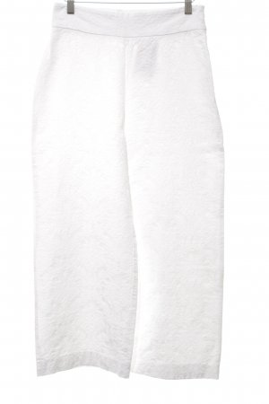 Zara Woman Culottes weiß Blumenmuster Casual-Look