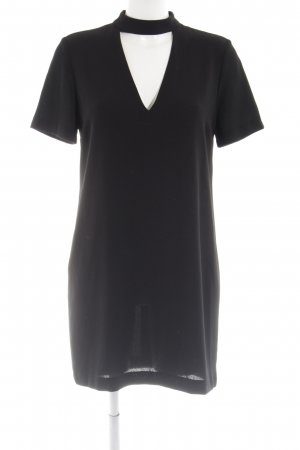 Zara Woman Cut-Out-Kleid schwarz Business-Look