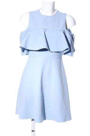 Zara Woman Sukienka z wycięciem niebieski Elegancki