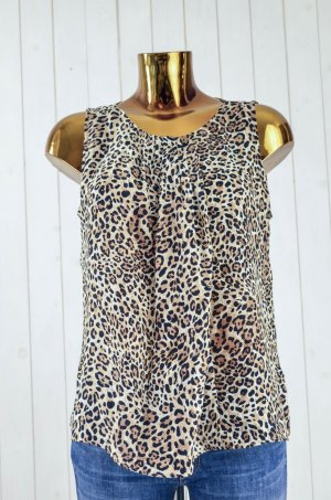 ZARA WOMAN Damen Blusentop Top Leo Satin Gr.M