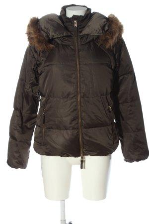 Zara Woman Daunenjacke braun Steppmuster Casual-Look