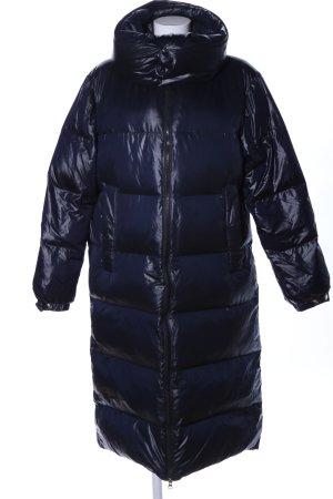 Zara Woman Daunenmantel blau Steppmuster Casual-Look