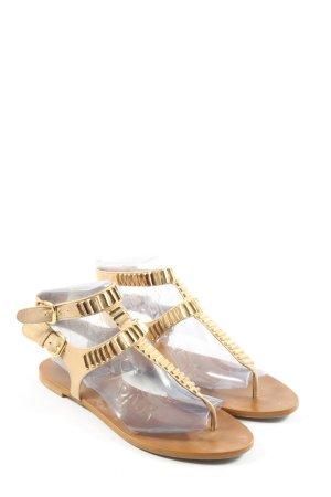 Zara Woman Dianette-Sandalen creme-silberfarben Casual-Look