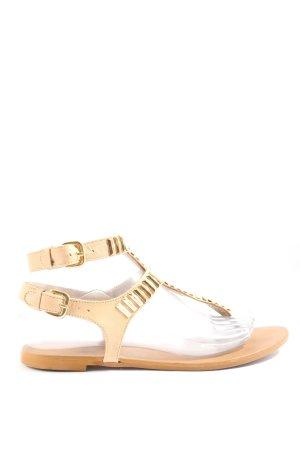 Zara Woman Sandały japonki kremowy W stylu casual